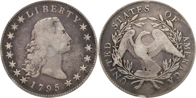 1795 $1 F12 PCGS Silver Plug