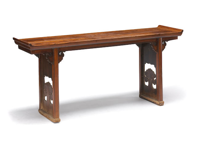 A huanghuali and mixed wood altar table Late Qing/Republic Period