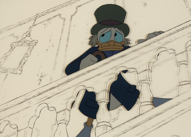 "Cel of Scrooge from ""Mickey's Christmas Carol"""