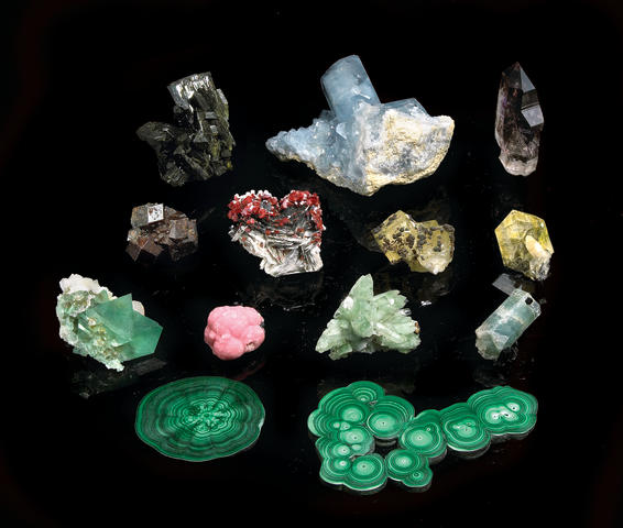 Group of Fourteen African Minerals