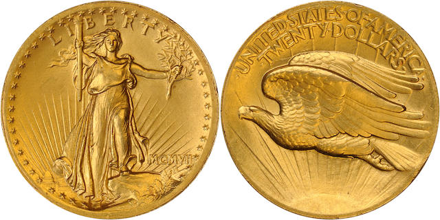 1907 High Relief Wire Edge $20 Double Eagle