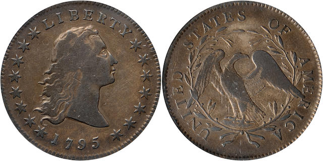 1795 $1 Two Leaves Fine 15 PCGS