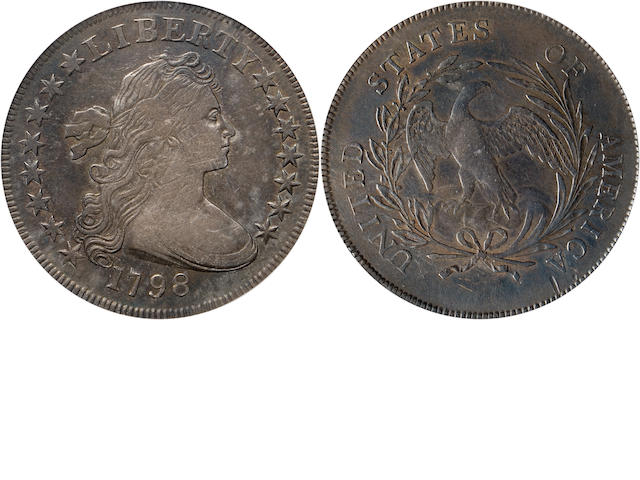 1798 $1 Small Eagle, 15 Stars VF30 PCGS