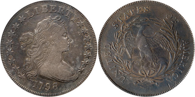 1798 $1 Small Eagle, 15 Stars VF30 PCGS