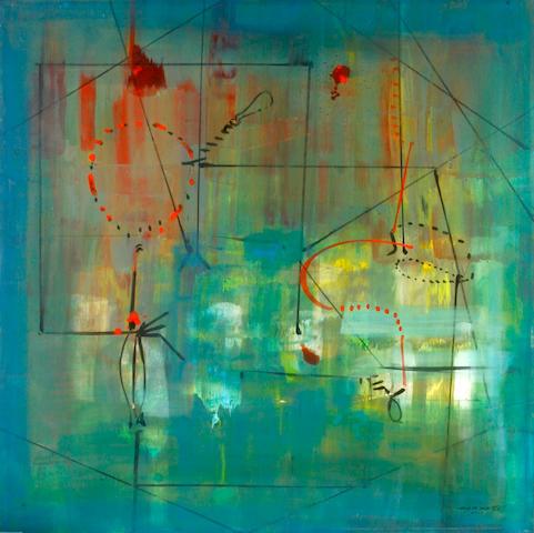 Antonio Carreño (Dominican, born 1963) She as Constellation #2, 2008 48 x 48in