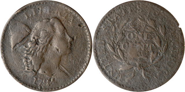 1794 1C S-44 Damaged-Corroded VG8 ANACS