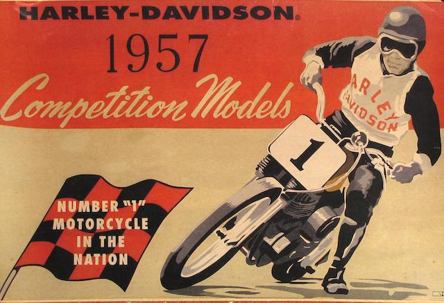 A Harley-Davidson 1957 Competition Models poster,