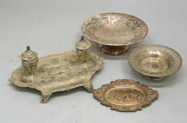 Continental Silver Group of Two Desk Items