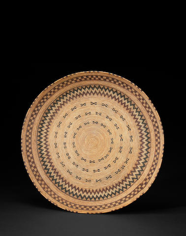 A superb and rare Yokut polychrome gambling tray