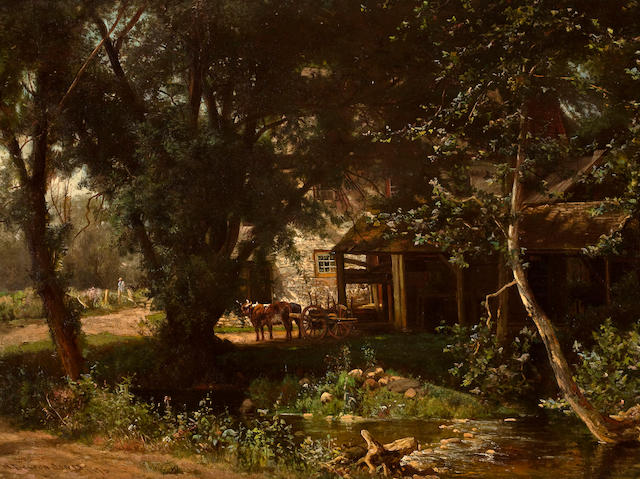 (n/a) Hugh Bolton Jones (American, 1848-1927) Old Mill 16 1/4 x 22 1/4in