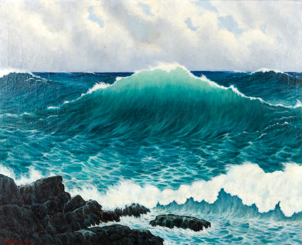 Fred Cady (American, 1885-1960) A seascape (cresting wave)