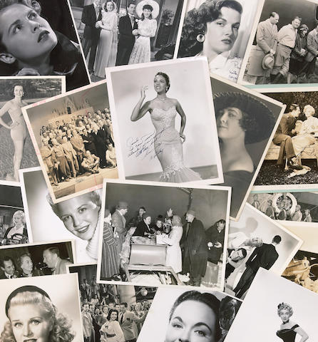 An assorted group of Hollywood-related black and white photographs, 1920s-1960s