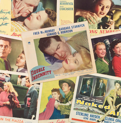 A large group of lobby cards, 1940s-1960s