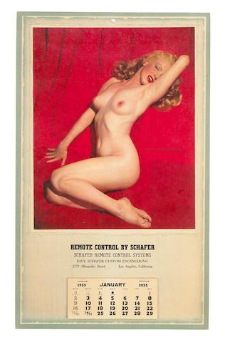 A Marilyn Monroe calendar, 1955