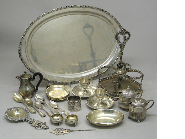 Quantity of Silver Table Articles and Flatware