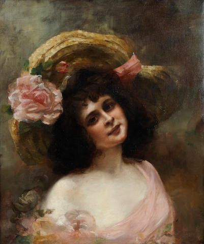 Consuelo Fould (French, 1862-1927) A young beauty 28 5/8 x 23 1/2in