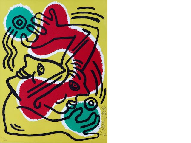 Keith Haring (American, 1958-1990); International Volunteer Day;