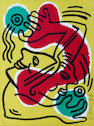 Keith Haring (American, 1958-1990); International Volunteer Day;