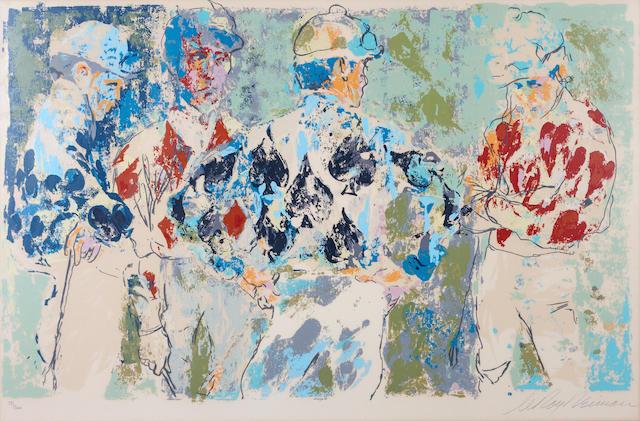 LeRoy Neiman (American, born 1926); Four Jockeys;