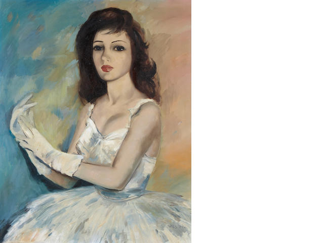 Pal Fried (Hungarian/American, 1893-1976) A portrait of a lady 30 x 24in