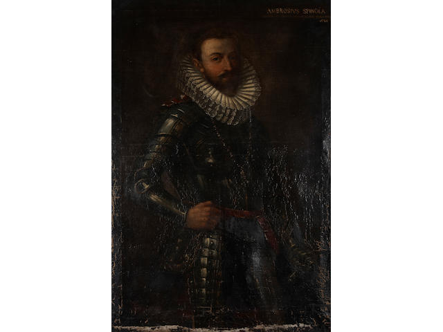 Italian School A portrait of a gentleman, thought to be Ambrosius Spinola 55 x 36in unframed
