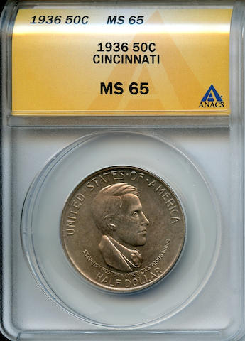 1936 50C Cincinnati MS65 ANACS