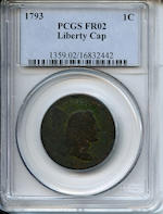 1793 1C Liberty Cap Fair 2 PCGS