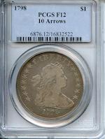 1798 $1 10 Arrows Fine 12 PCGS