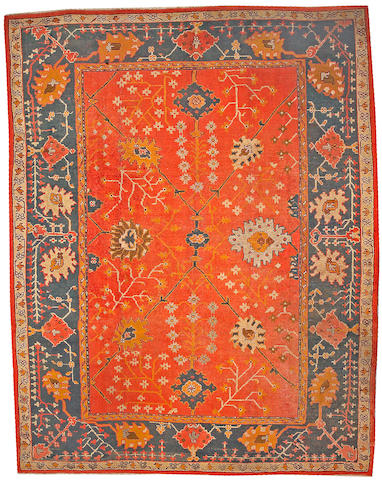 An Oushak carpet West Anatolia, size approximately 9ft. 10in. x 12ft. 4in.