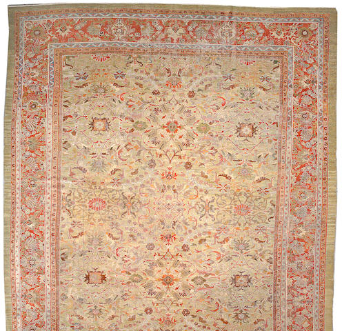 A Sultanabad carpet Central Persia, size approximately 14ft. 3in. x 20ft.