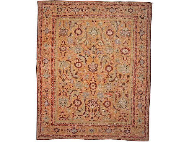 A Sultanabad carpet Central Persia, size approximately 11ft. 6in. x 13ft. 3in.