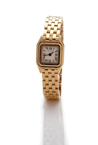 Cartier. An 18K gold lady's bracelet watchMini Panthère, no. 1130 1 / C8859