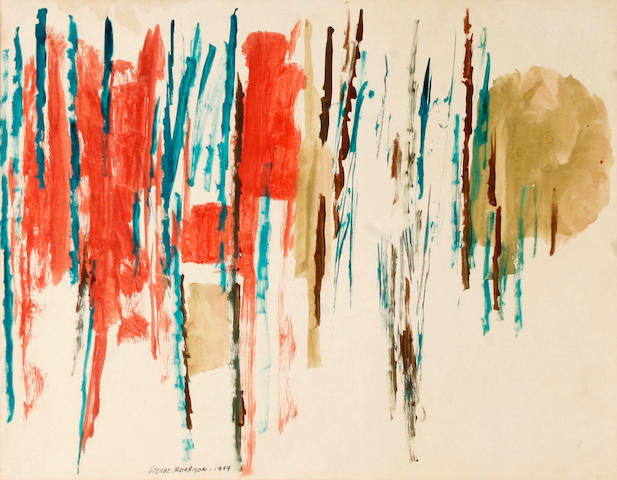 George Morrison (American, 1919-2000) Untitled, 1959 13 3/4 x 17 1/4in