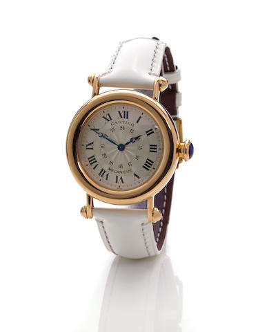 Cartier. An 18K gold wristwatch with 24-hour dialDiablo Mechanique, ref 1460, case no. C102994