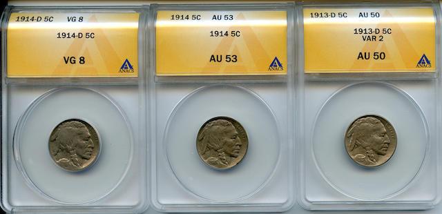 Buffalo Head Nickels (3)