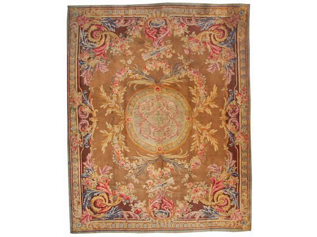 A Savonnerie carpet Fraace, size approximately 12ft. x 18ft.