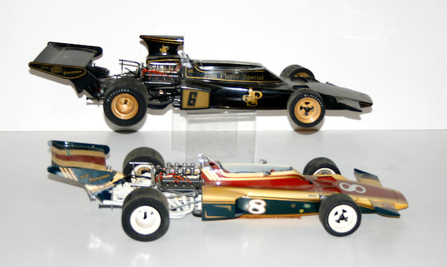 Assembled plastic/metal cars