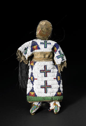 A Sioux beaded doll