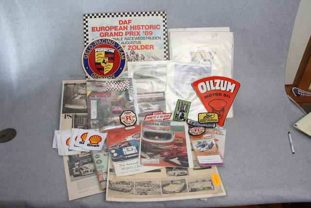 A collection of motor sports ephemera,