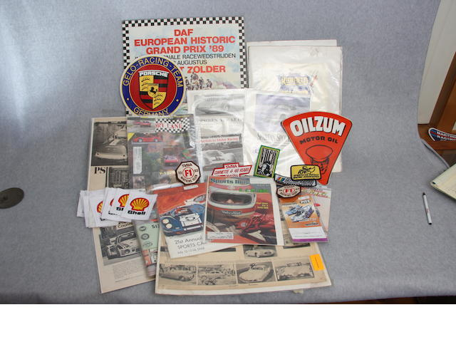 A collection of Motorsports ephemera,