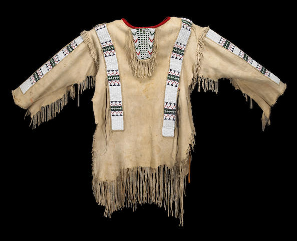 A Sioux beaded man's shirt