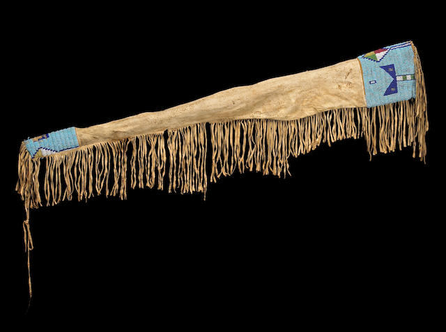 A Sioux beaded rifle scabbard