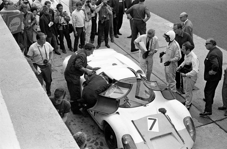 Ex-Works, Gerhard Mitter/Lucien Bianchi Nurburgring 1000Kms-leading,1967 2-liter Porsche Typ 910 Endurance Racing Works Coupe  Chassis no. 910-026 Engine no. 910-023