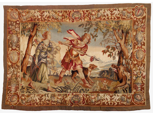 A Brussels mythological tapestry  early 18th century