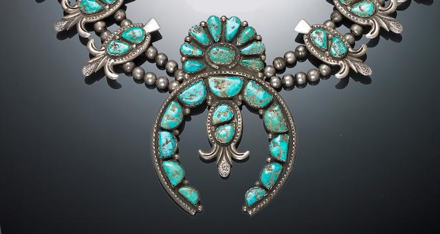 A Zuni squash blossom necklace, Della Casa-Appa