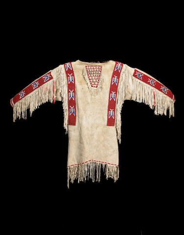 A Rosebud Sioux beaded man's shirt