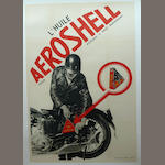 A good AeroShell Oil for Motorycles advertising poster, French, 1930s,