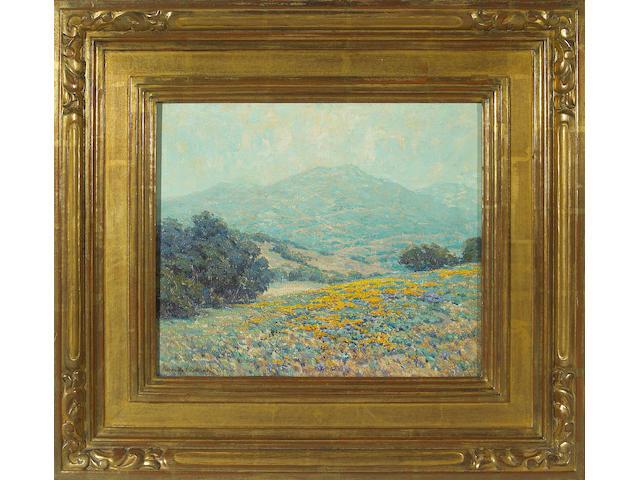(n/a) Granville Redmond  (1871-1935) Poppy landscape, 1920 11 x 13in