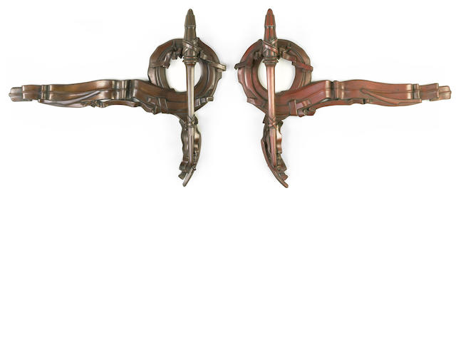 Albert Paley (American, born 1944) Pair of Wortham Door Handles