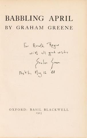 GREENE, GRAHAM. 1904-1991.